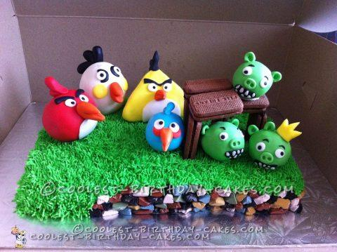 Angry Birds Cake for My Sweet 5 Year Old