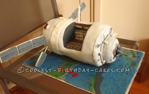ATV Spaceship Cake with Interior (Cutout) View