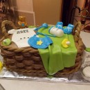 Coolest Baby Shower Basket Cake