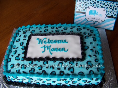 Baby Shower Cake to Match Invitations