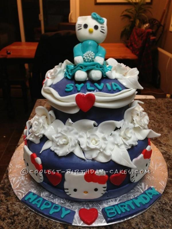 Pretty Hello Kitty Cake by Tracy