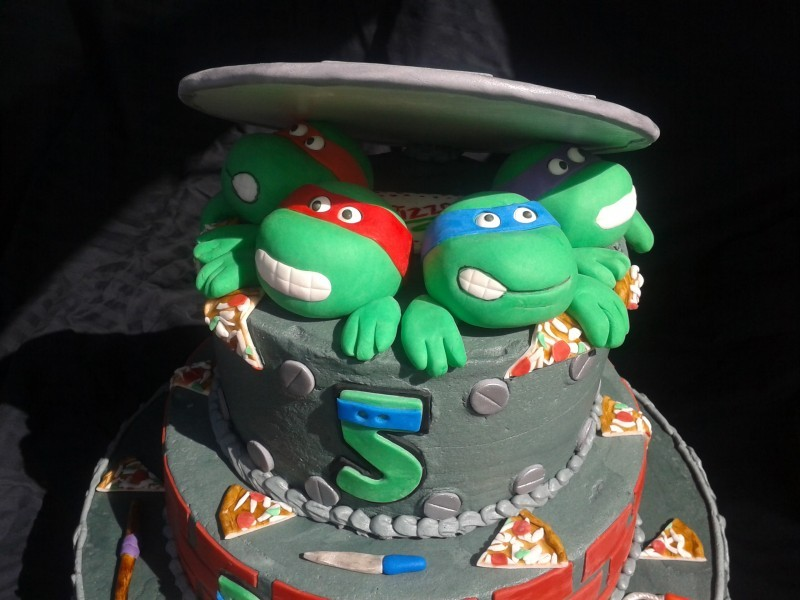Cool Ninja Turtles Cake