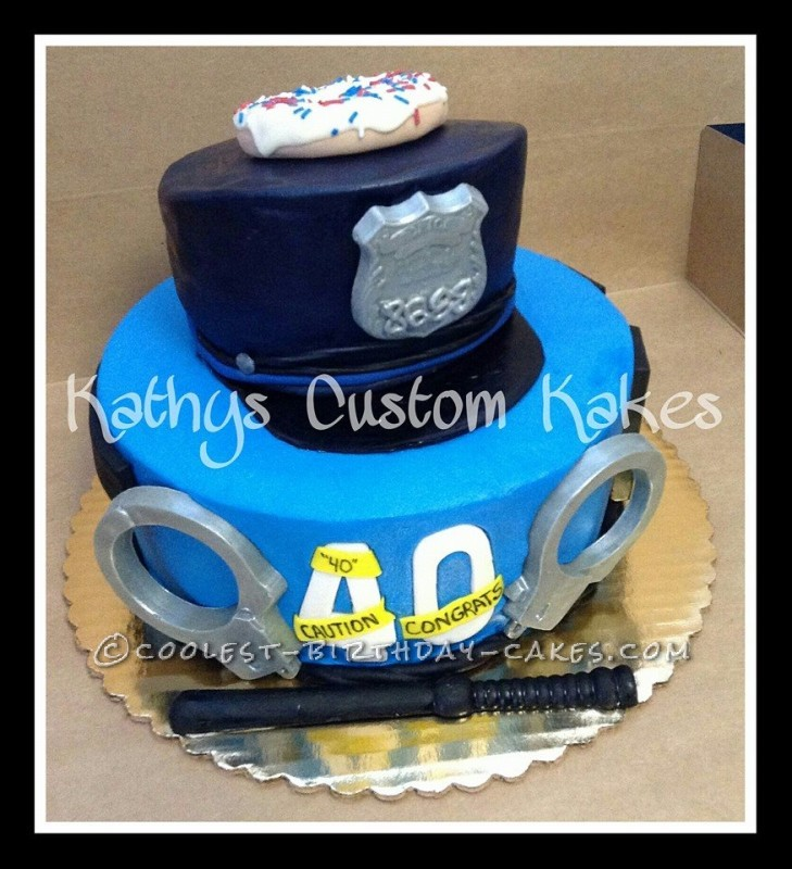 Groovy Coolest Homemade Police Cakes Funny Birthday Cards Online Alyptdamsfinfo