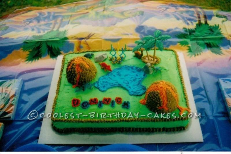 Cool Jurassic Volcano Cake