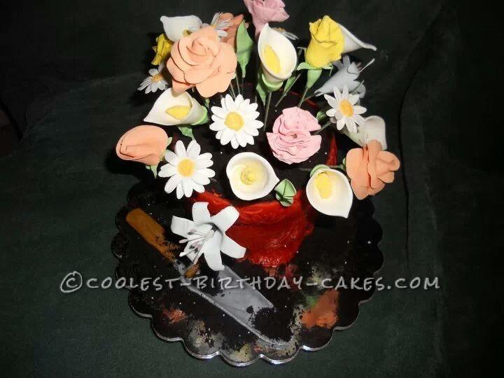 Coolest Edible Flower Pot Cake