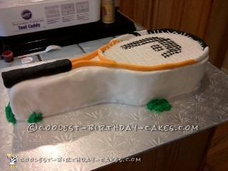 Coolest Ever Tennis Racquet Cake