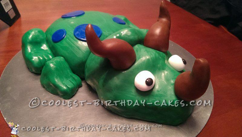 Coolest Green Dinosaur Cake