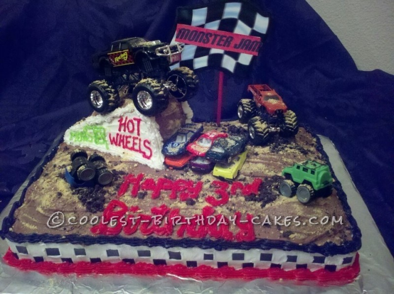Coolest Monster Jam Cake