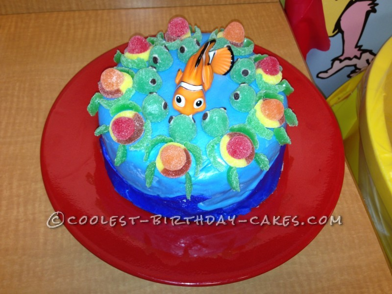 Tremendous Coolest Nemo Birthday Cake For A 3 Year Old Boy Personalised Birthday Cards Veneteletsinfo