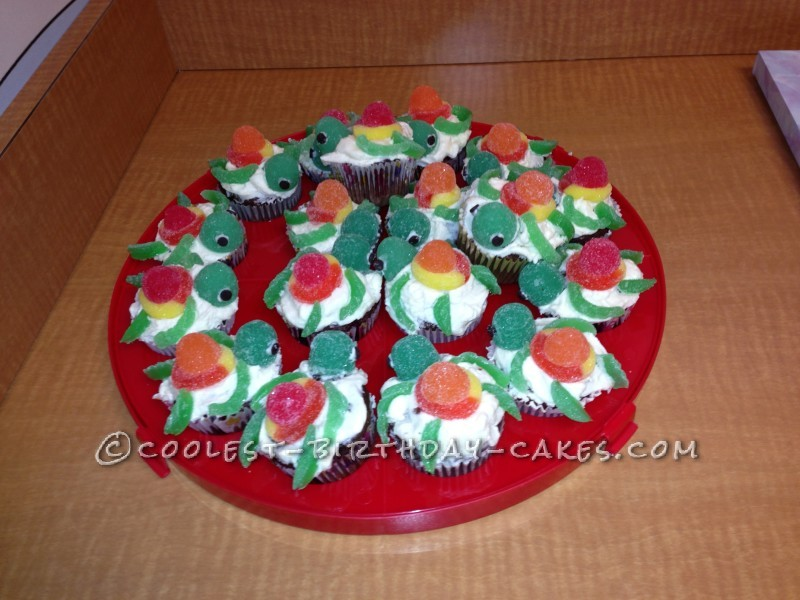 Squirt the Turtle Cupcakes