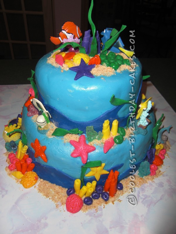 Enjoyable Coolest Nemo Birthday Cake For A 3 Year Old Boy Funny Birthday Cards Online Overcheapnameinfo
