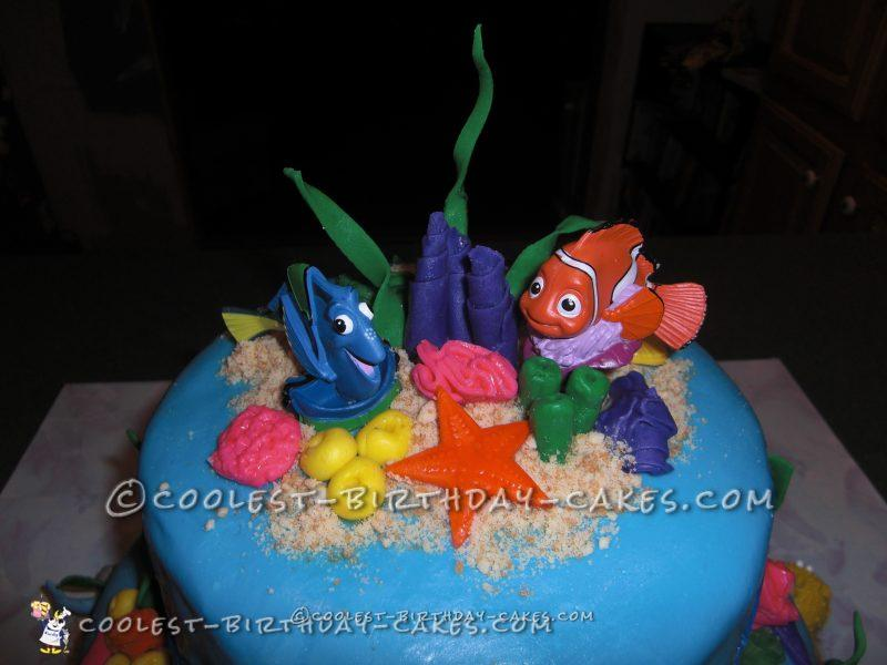 Astounding Coolest Nemo Birthday Cake For A 3 Year Old Boy Funny Birthday Cards Online Overcheapnameinfo