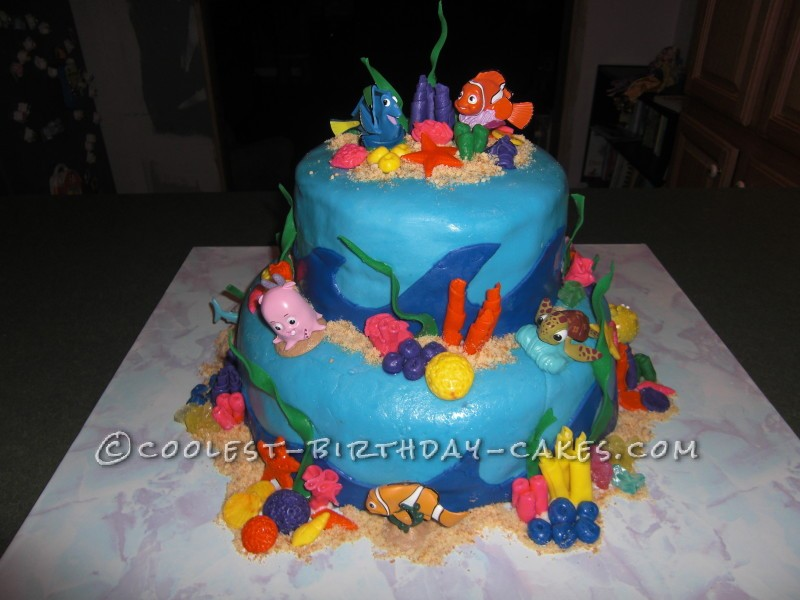 Fine Coolest Nemo Birthday Cake For A 3 Year Old Boy Personalised Birthday Cards Cominlily Jamesorg
