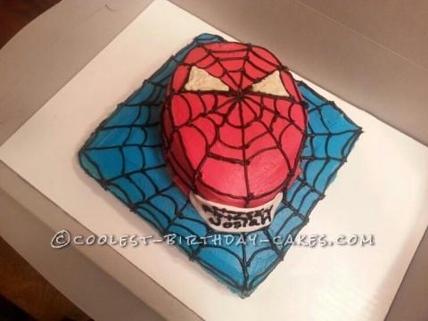 Coolest Spiderman Cake