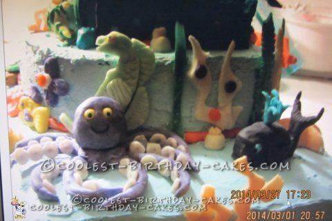 Coolest Under the Sea Baby Shower Cake