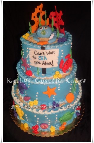 Coolest Under the Sea Shower Cake