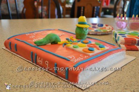 Cute Bookworm Cake