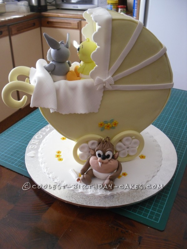 Daring Baby Shower Cake for a Beginner