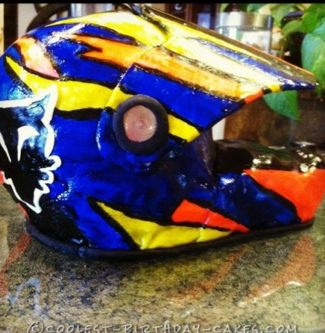 Dirt Bike Helmet Cake