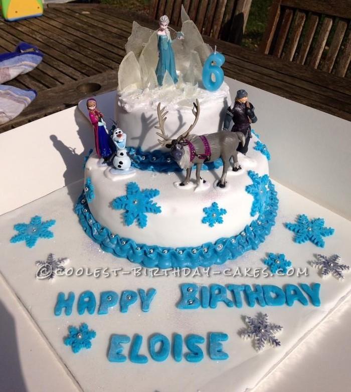 Cool Disneys Frozen Cake For 6 Year Old Frozen Addict Funny Birthday Cards Online Unhofree Goldxyz