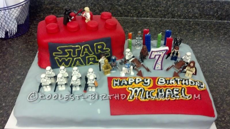 Star Wars Lego Block Cake