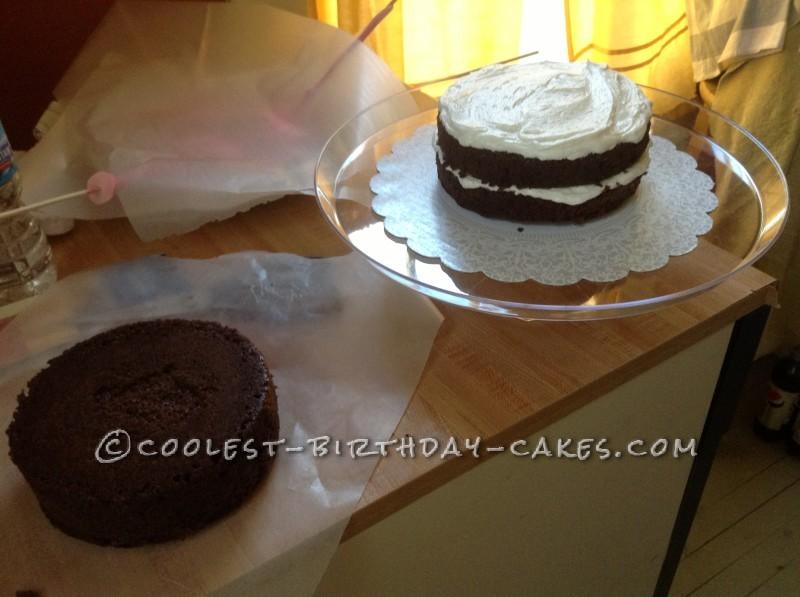 The cake, layered