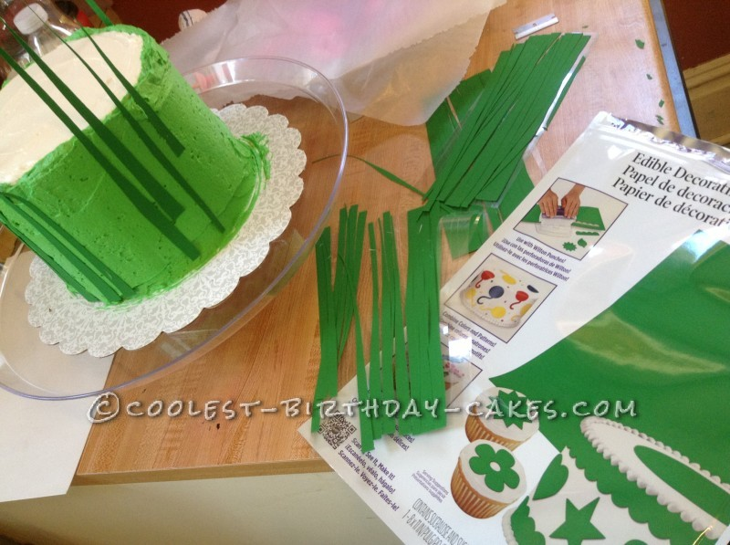 Green Frosting and edible Frosting paper