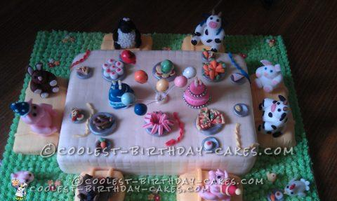Farmyard Joint Birthday Cake