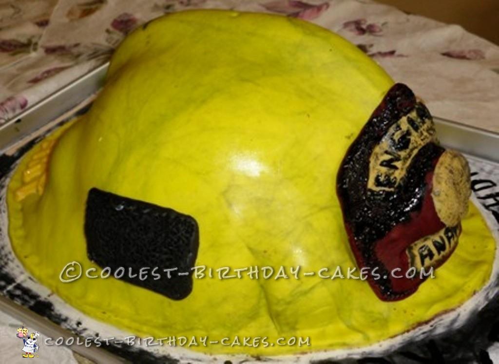 Cool Firefighter Helmet Cake