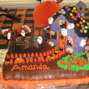 Coolest Haunted House Birthday Cake