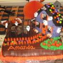 Coolest Haunted House Birthday Cake