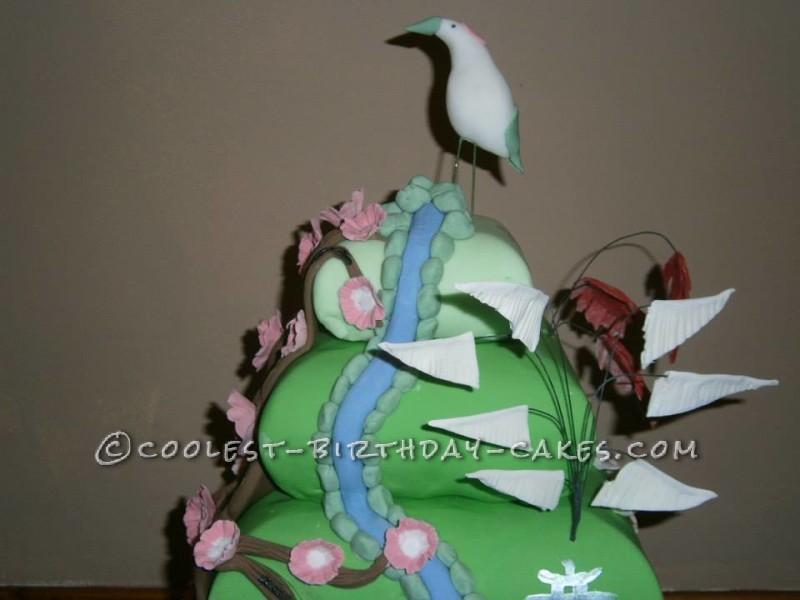 Japanese Water Garden Display Cake