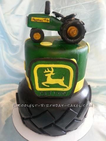 Coolest Green John Deere Tractor Cake