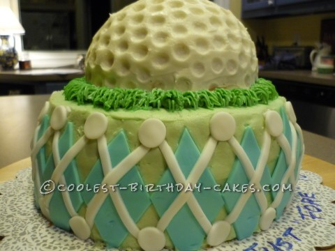 Coolest Golf Ball Cake