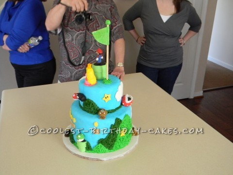 "Super Mario ""Level 13"" Birthday Cake"