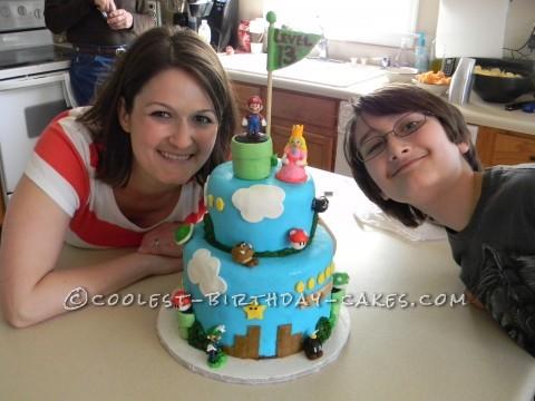 "Super Mario ""Level 13"" Birthday Cake"