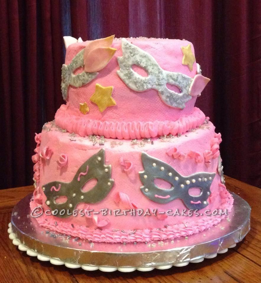 Pink Masquerade Cake