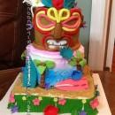 Coolest Tiki Island Birthdy Cake