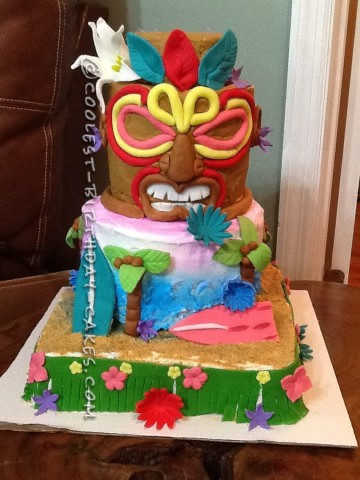 Coolest Tiki Island Birthdy Cake