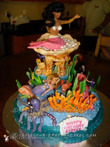 Coolest Mermaid Birthday Cake