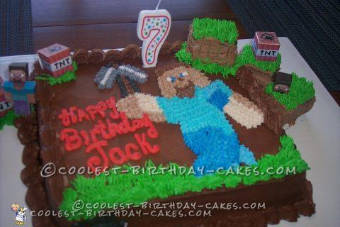 Birthday Cake Ideas For A 7 Year Old Boy : Coolest Minecraft Birthday Cake