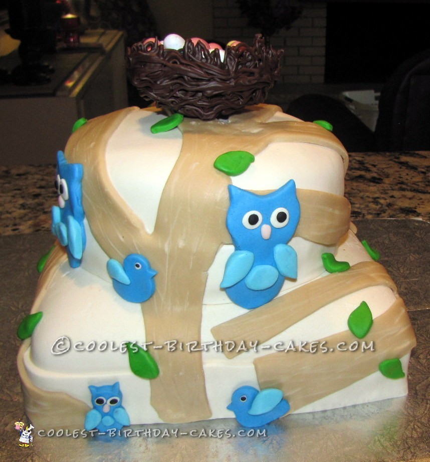 Coolest Easter Eggs and Owls Cake