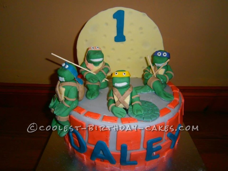 Magnificent Coolest Ninja Turtles Birthday Cake Funny Birthday Cards Online Fluifree Goldxyz