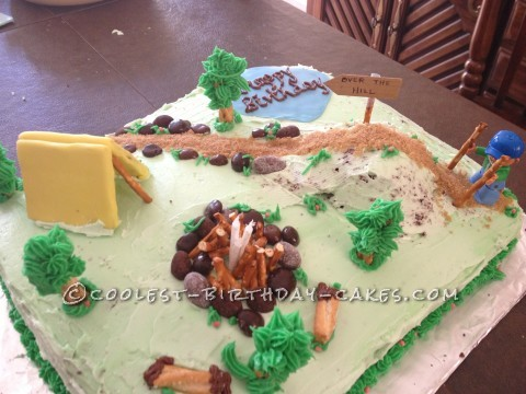 Marvelous Cool Over The Hill Hiking Cake For A 40 Year Old Man Funny Birthday Cards Online Bapapcheapnameinfo
