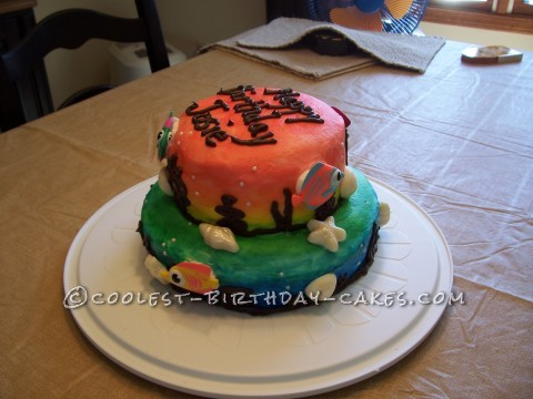 Rainbow Tropical Fish Cake