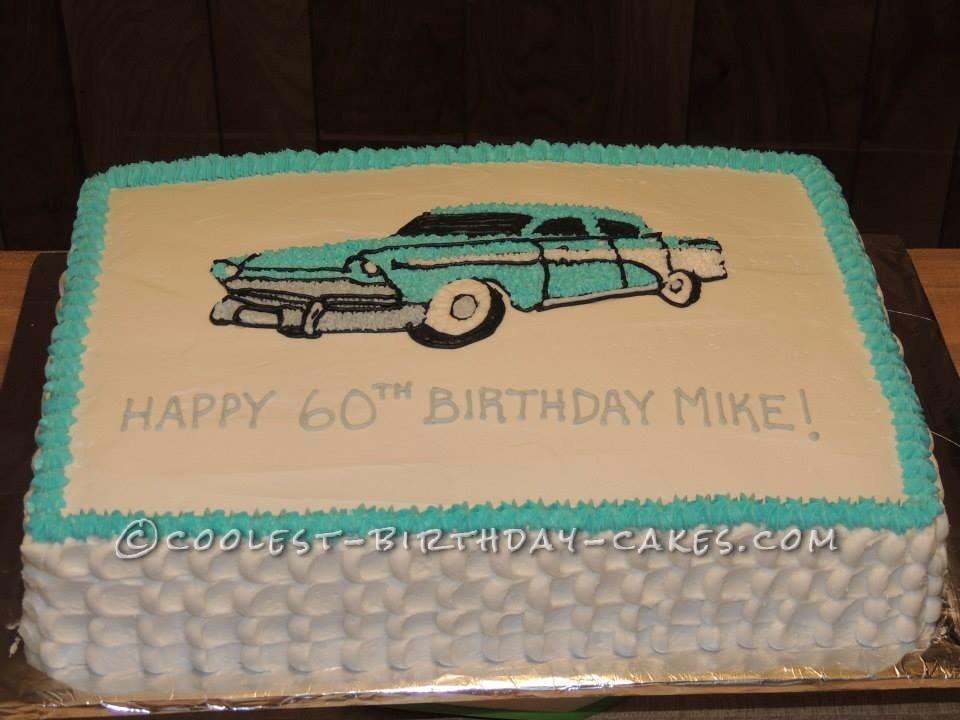 Retro Car Cake