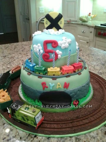 Coolest Train Birthday Cake