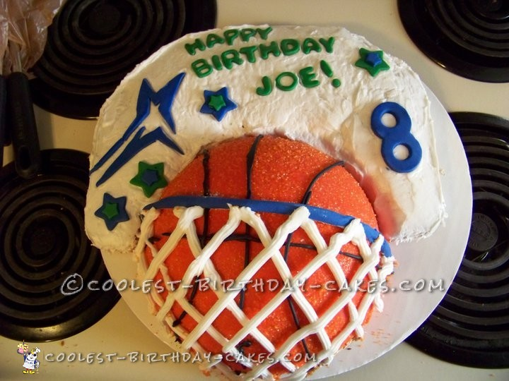 Slam Dunk Basketball Cake