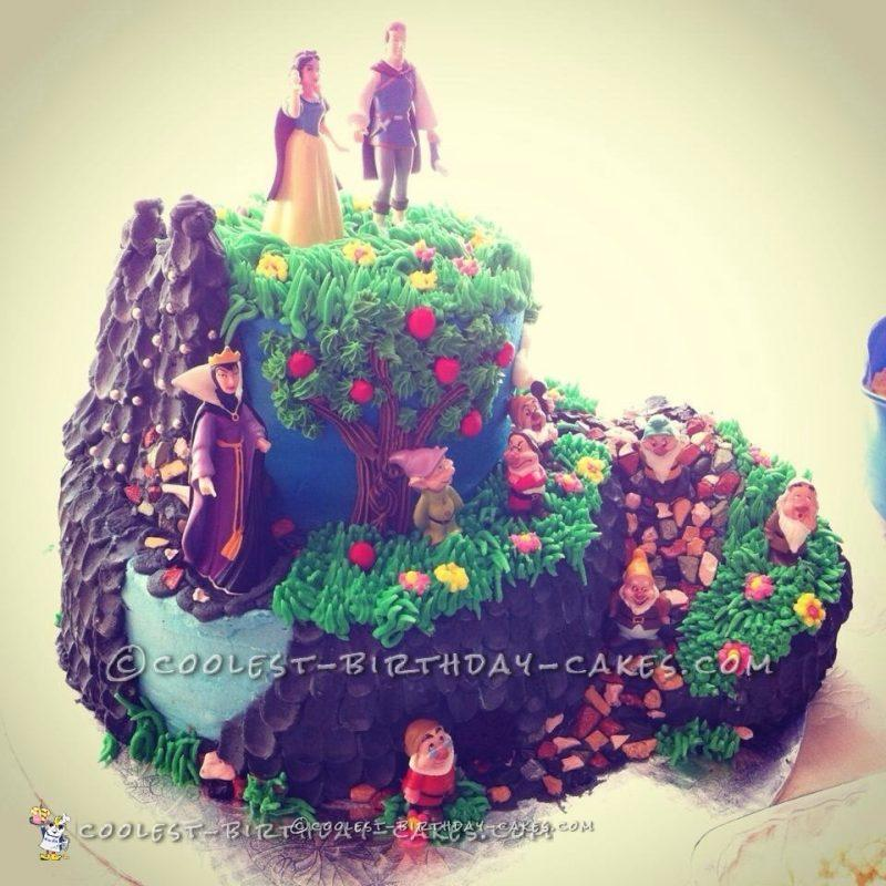 Snow White's Enchanted Forest Cake