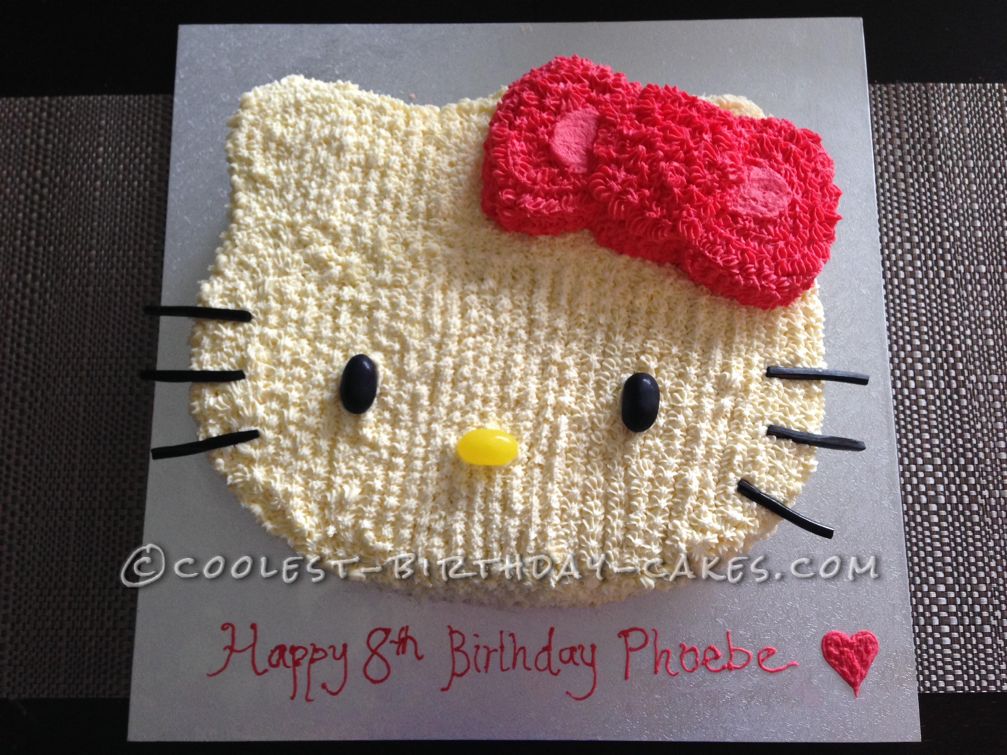 Coolest Strawberry Hello Kitty Cake